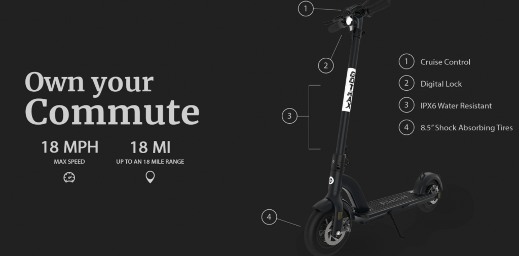 The GOTRAX G3 Foldable Electric Scooter For Adults under £500